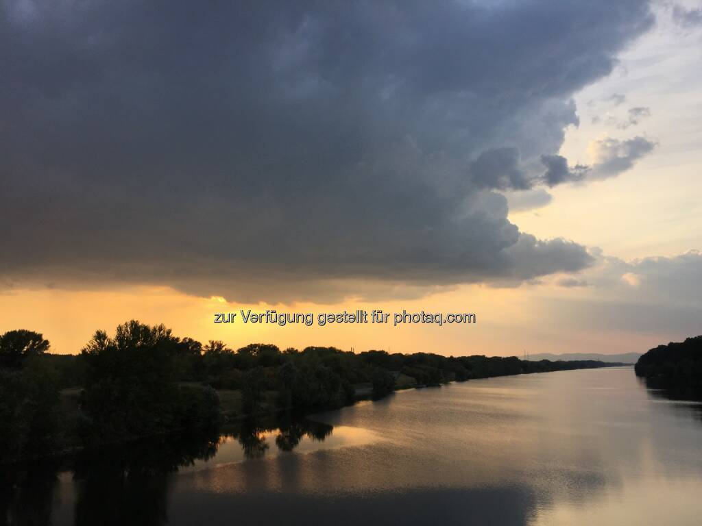 Sonnenuntergang, Donauinsel (24.08.2015)