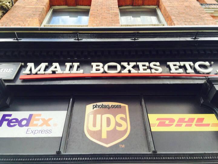 Mail Boxes Etc, FedEx, UPS, DHL