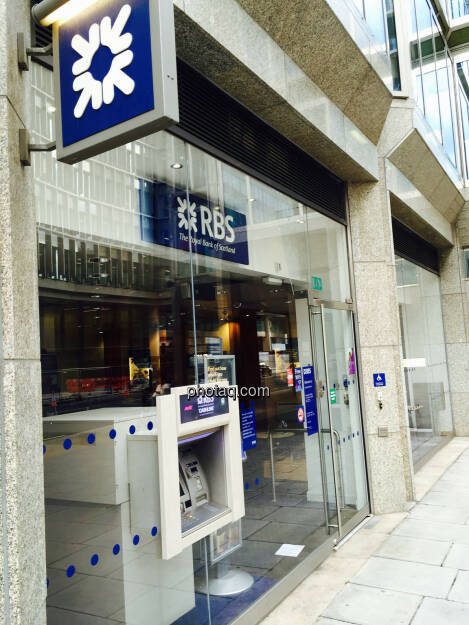 RBS, Royal Bank of Scotland, Bankomat, © photaq.com (24.08.2015)