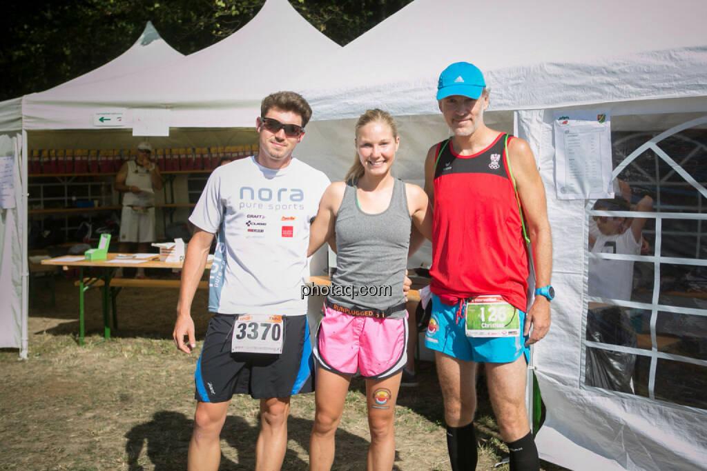Dominik Wychera (Nora Pure Sports), Sandra Koblmüller, Christian Drastil, © photaq/Martina Draper/Josef Chladek (30.08.2015)