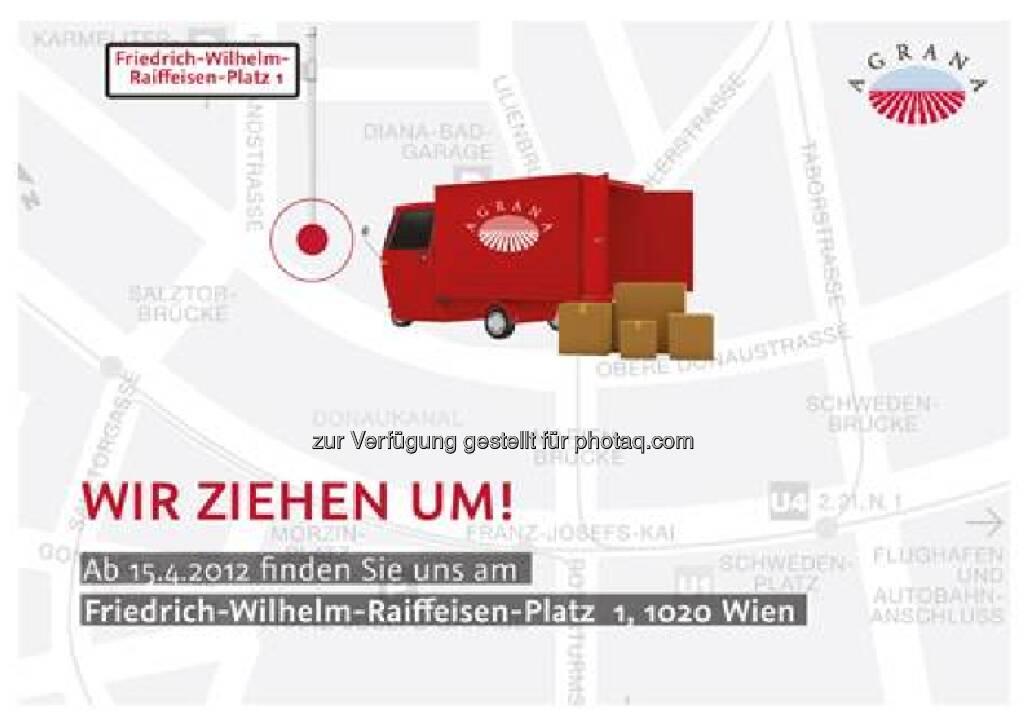 Agrana zieht um: Die neue Adresse lautet Friedrich-Wilhelm-Raiffeisen-Platz 1, 1020 Wien (18.03.2013)
