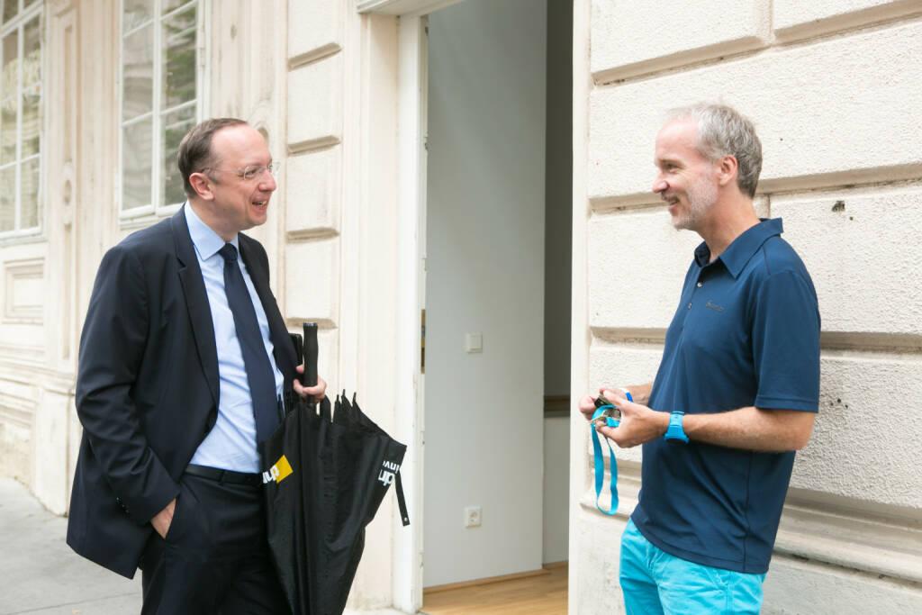 Mit Roman Eisenschenk (Head of Austrian Sales Kepler Cheuvreux) bei Tristyle (01.09.2015)
