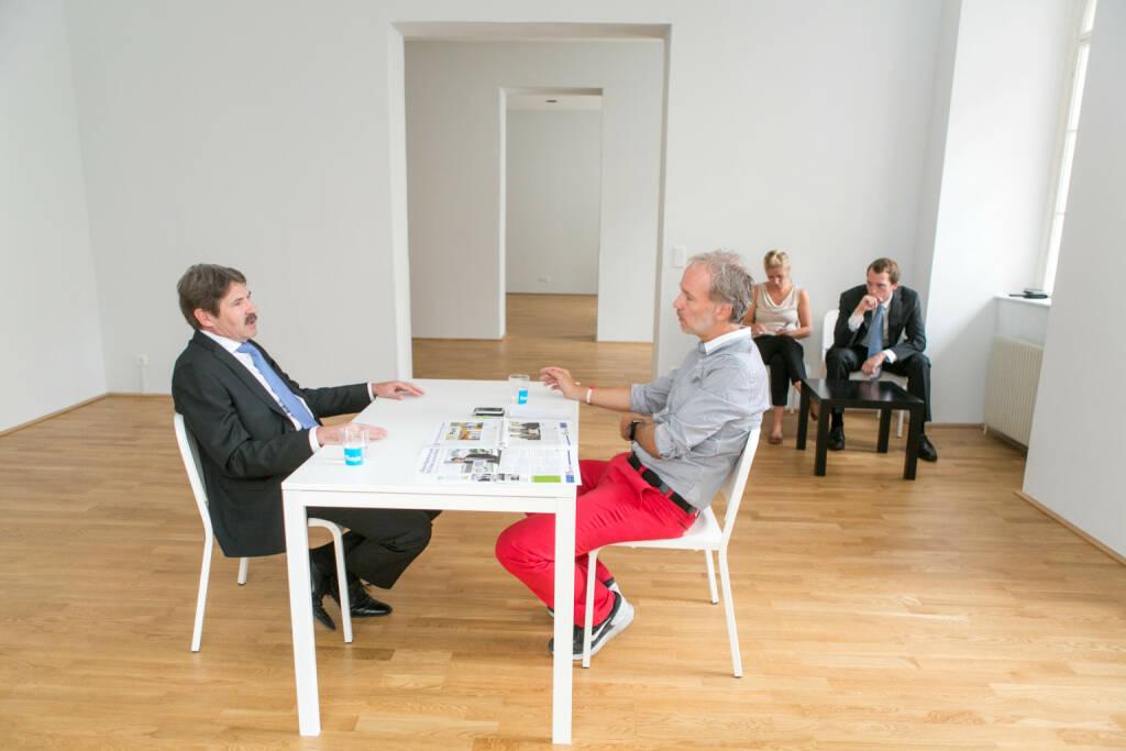 Mit Ernst Vejdovszky, Lisa Wagerer und Leonhard Steinmann (alle S Immo) bei Tristyle (01.09.2015)