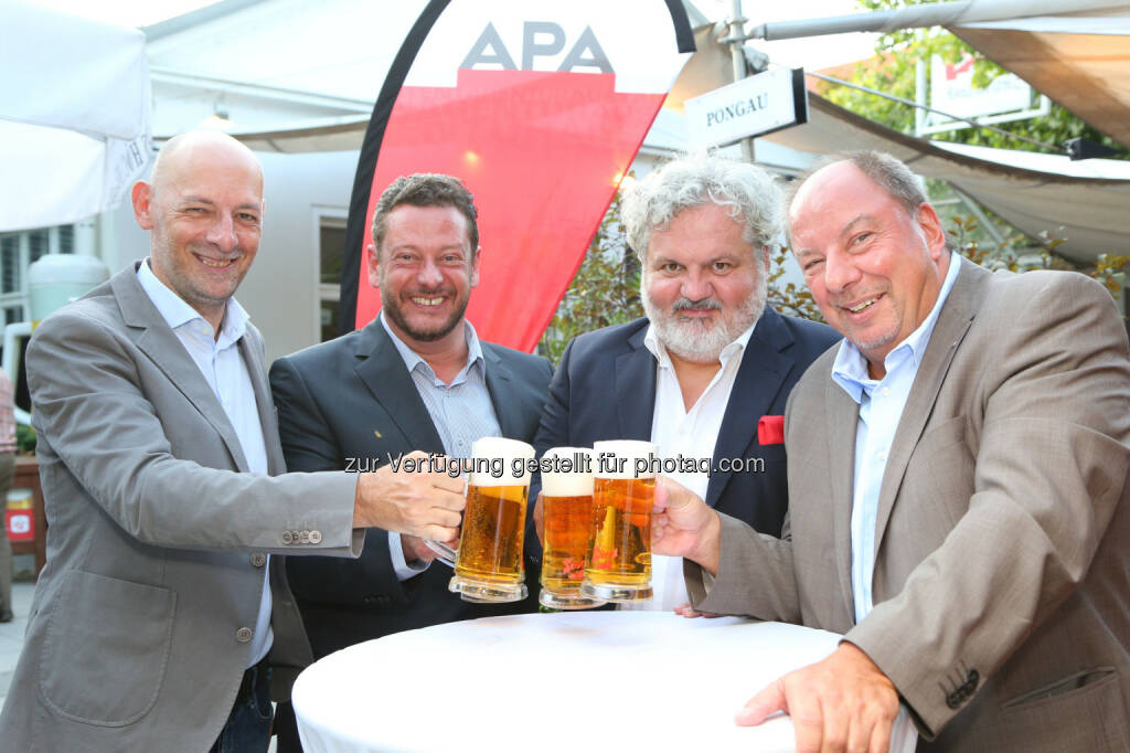 Marcus Hebein, Michael Lang, Johannes Bruckenberger, Werner Müllner (APA-Chefredaktion), © APA/Ludwig Schedl  (02.09.2015)