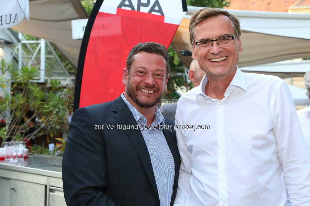 Michael Lang (APA), Thomas Kralinger (VÖZ/Kurier), © APA/Ludwig Schedl  (02.09.2015)
