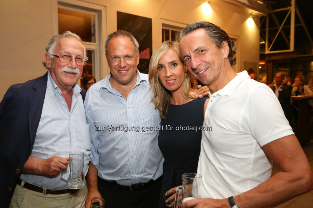 Wolfgang Mayr (ehem. APA), Richard Grasl (ORF), Nadja Bernhard (ORF) und Christian Rainer (profil), © APA/Ludwig Schedl  (02.09.2015)