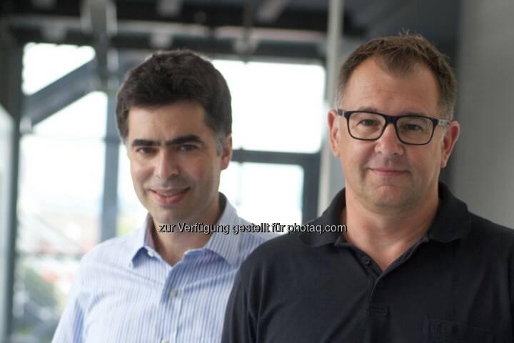 Anton Cabrespina, Helmut Lehner, beide Geschäftsführer Freeeway GmbH: Freeeway GmbH: Freeeway bringt erste Kommunikationslösung für die Transportlogistik mit kostenloser Profi-Telematik-Software, © Freeeway GmbH