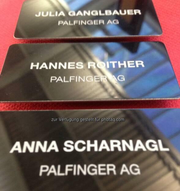 Hannes Roither, Julia Ganglbauer, Anna Scharnagl - Palfinger Messestand Börsentag München, siehe auch http://blog.palfinger.ag/ (20.03.2013)