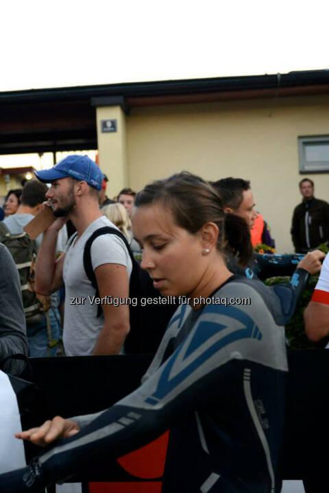 Martina Kaltenreiner, 06:45 Uhr Start der Damenwelle, IM 70.3 Zell am See