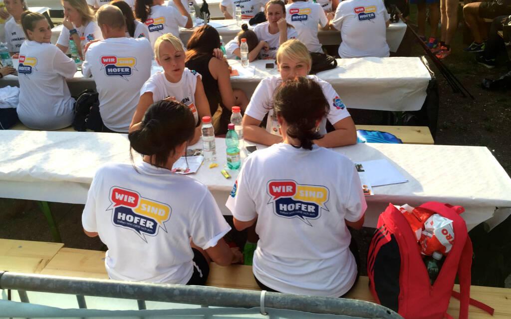 Wir sind Hofer beim Wien Energie Business Run 2015 (03.09.2015)