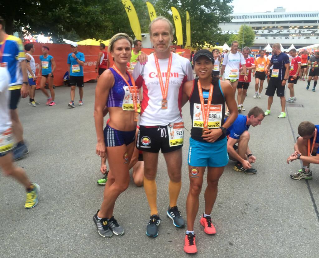 Runplugged auf den Beinen: Elisabeth Niedereder, Christian Drastil, Annabelle-Mary Konczer (03.09.2015)