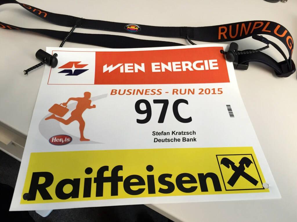 Startnummer Stefan Kratzsch, Deutsche Bank (03.09.2015)