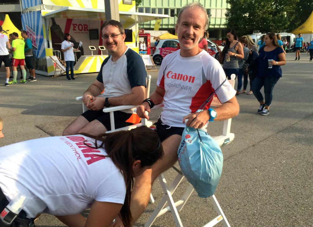 Diana mit Menthol beim Wien Energie Business Run 2015 (03.09.2015)