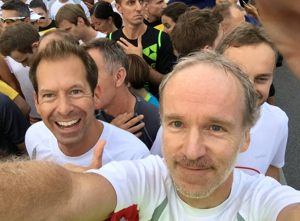 Thomas Baucek, Christian Drastil beim Wien Energie Business Run 2015 (03.09.2015)