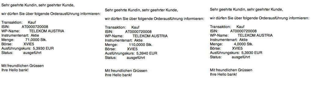 Tag 44: Kauf 185 Telekom Austria zu 5,393 (04.09.2015)