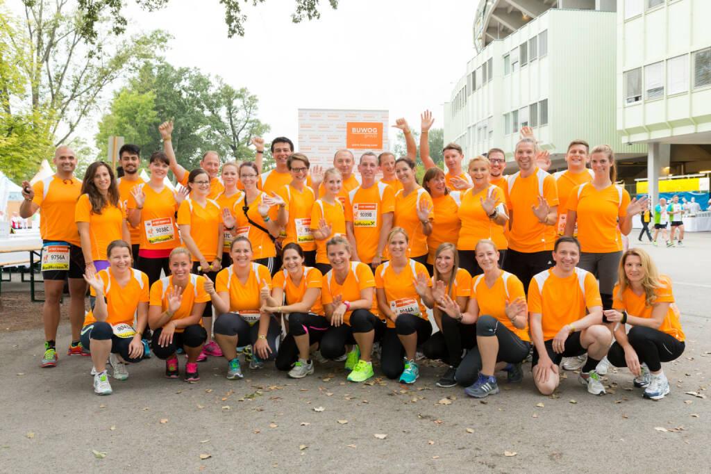 Team Buwog c) www.annarauchenberger.com / Anna Rauchenberger   - Buwog beim Business Run 2015, © beigestellt (04.09.2015)
