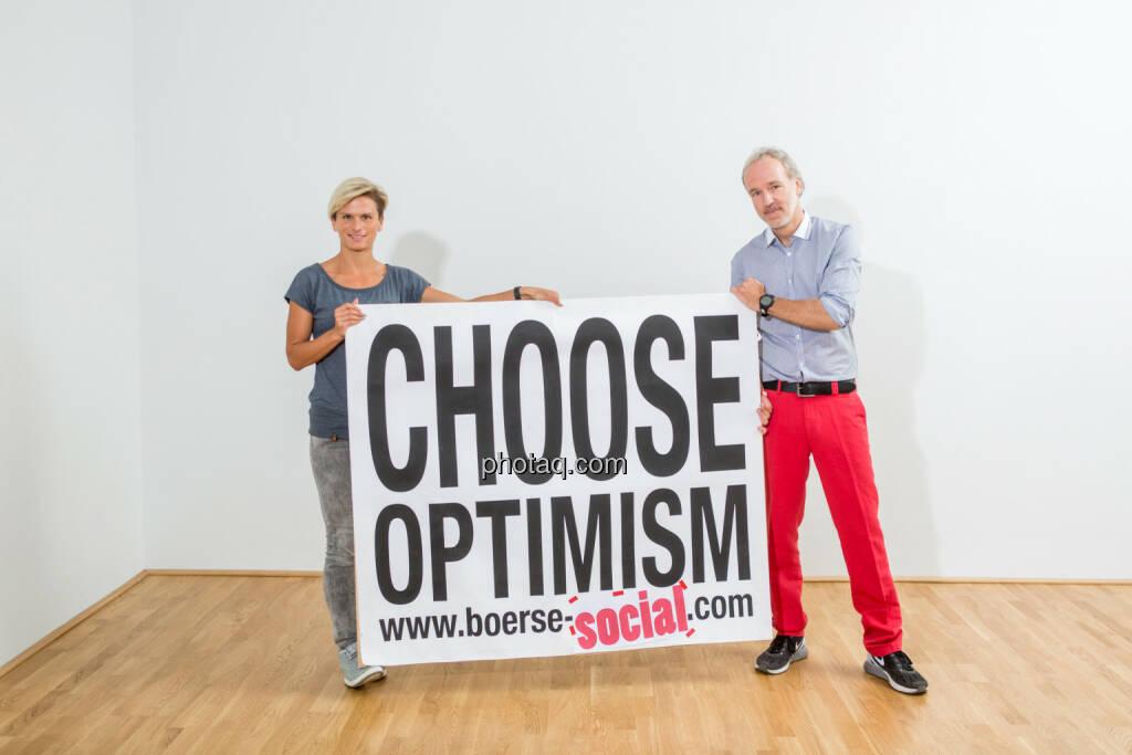 Elisabeth Niedereder, Christian Drastil, Choose Optimism, © Martina Draper/photaq (07.09.2015)