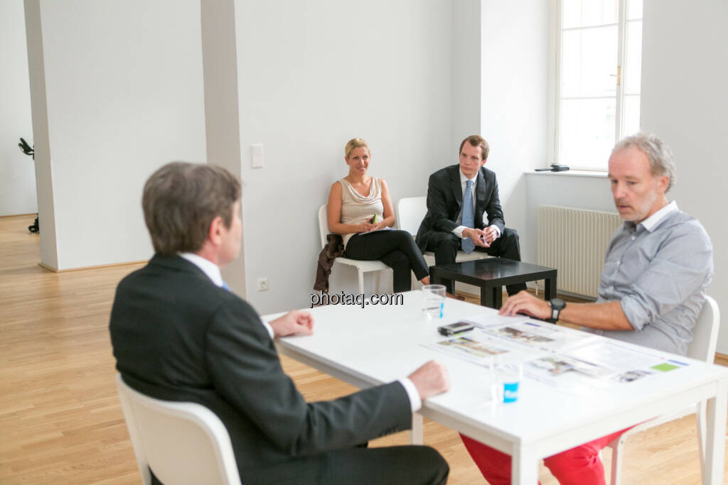 Ernst Vejdovszky (S Immo), Christian Drastil, Lisa Wagerer (S Immo), Leonhard Steinmann (S Immo), © Martina Draper/photaq (07.09.2015)