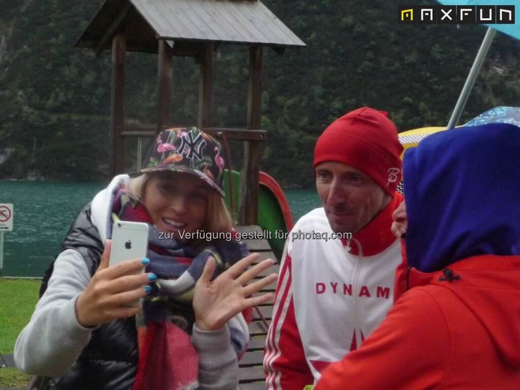 Achenseelauf 2015, Selfie, Foto, Handy, © MaxFun Sports (09.09.2015)
