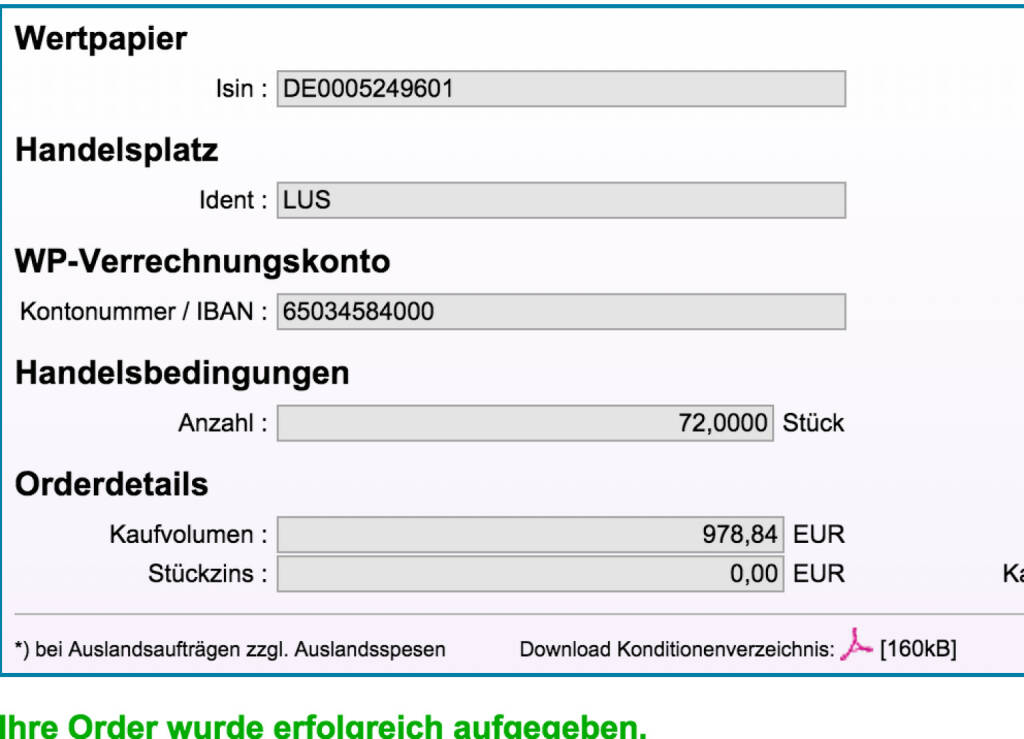 Tag 47: Kauf 72 Fintech Group zu 13,595 (09.09.2015)