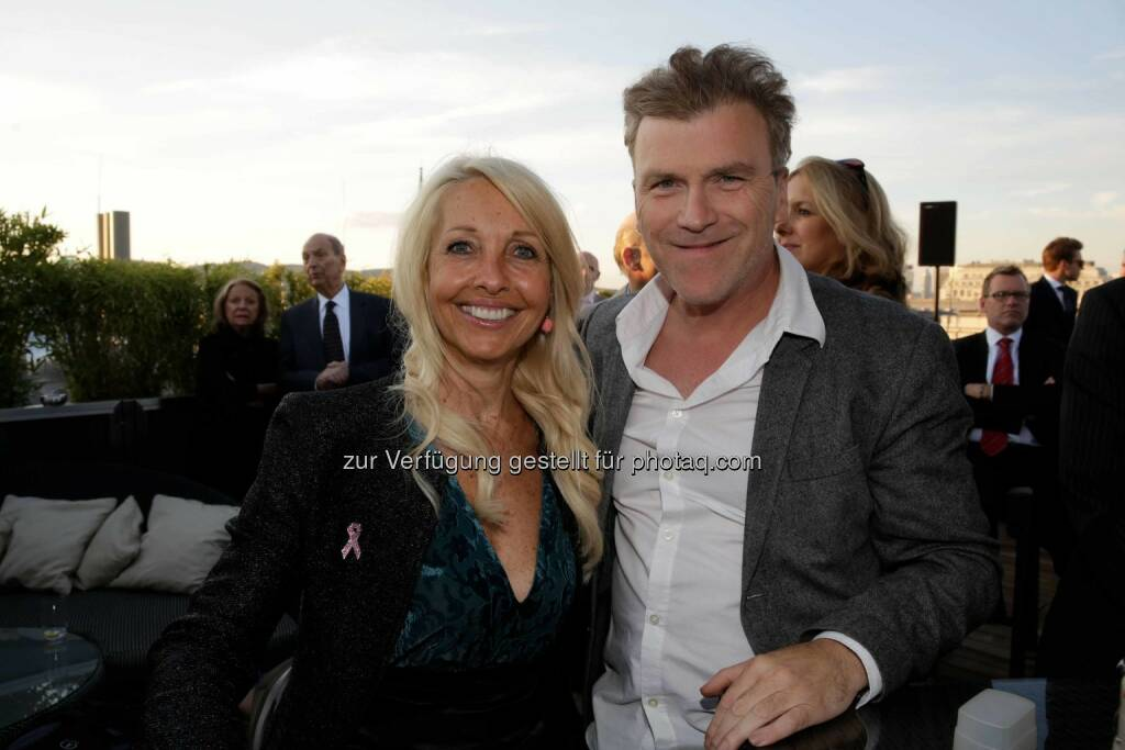Herausgeberin Uschi Fellner, TV-Produzent Laszlo Helbig, © leisure.at/Roland Rudolph (09.09.2015)
