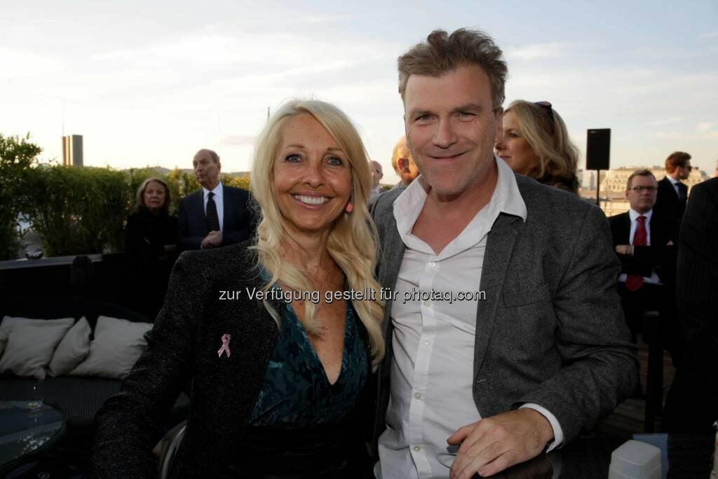 Herausgeberin Uschi Fellner, TV-Produzent Laszlo Helbig, © leisure.at/Roland Rudolph (09.09.2015)