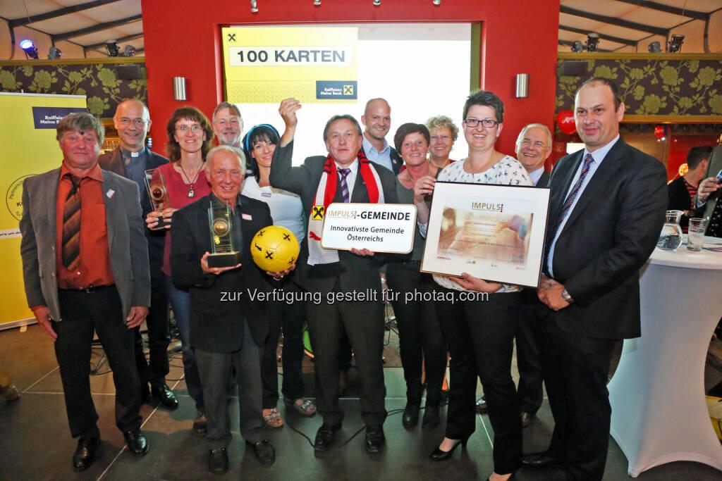 Gemeinde Dellach im Gailtal gewinnt mit dem Projekt Alsole, einem Sozialverein, den Impuls Gemeindeinnovationspreis : Fotocredit: FOTO im Lohnbüro/Roland Schuller, © Aussendung (10.09.2015)