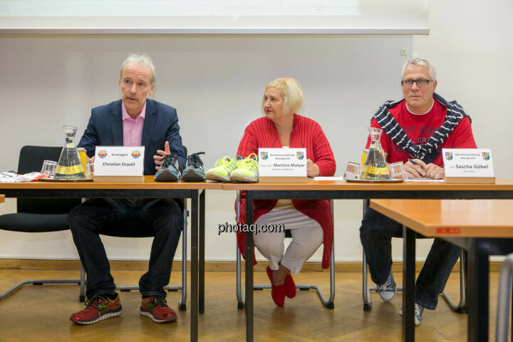Christian Drastil, Martina Malyar (Bezirksvorsteherin Alsergrund), Sascha Göbel (Bezirksvorstehung Alsergrund)