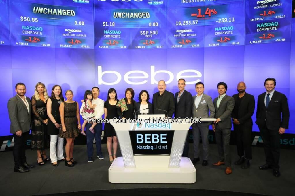 bebe rings the Nasdaq Opening Bell!   Source: http://facebook.com/NASDAQ (10.09.2015)