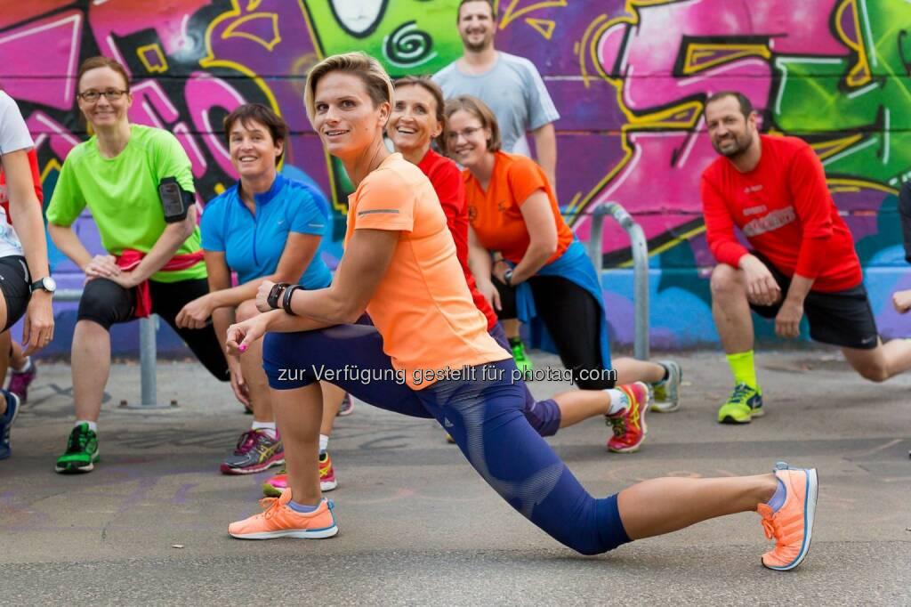 Vorbereitungstraining zum erste bank vienna night run mit Elisabeth Niedereder, © mit freundlicher Genehmigung von Hannes Mentiz (13.09.2015)