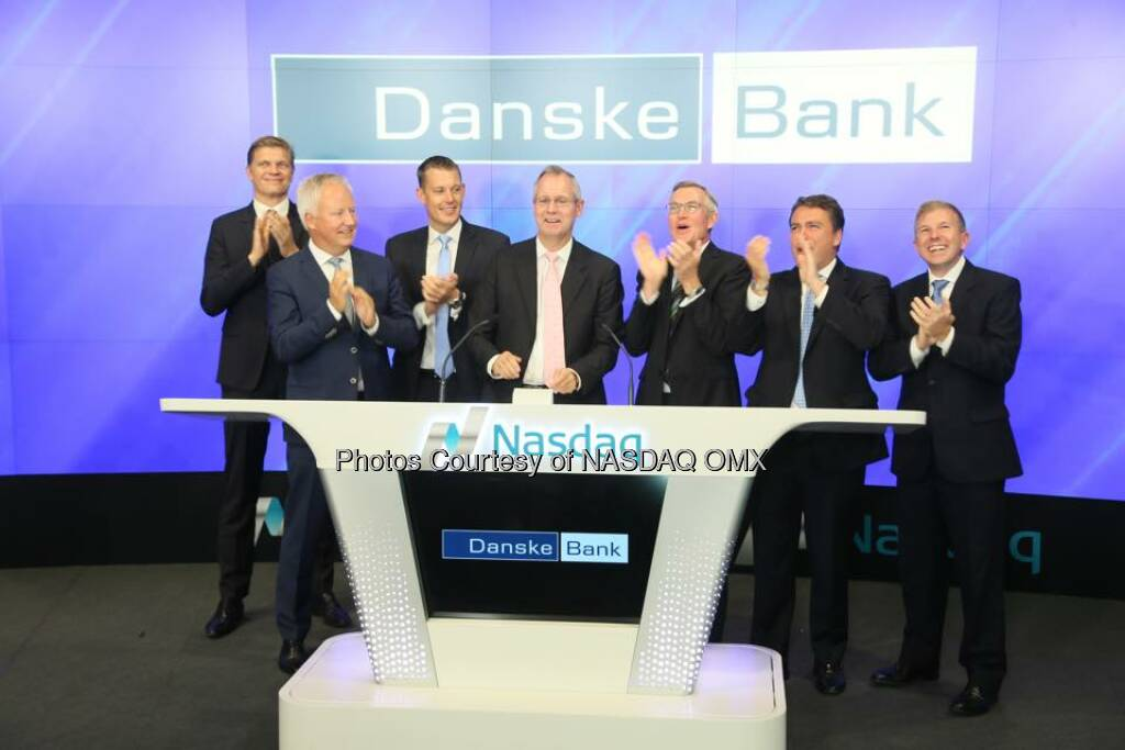 Danske Bank rings the Nasdaq Opening Bell!  Source: http://facebook.com/NASDAQ (15.09.2015)