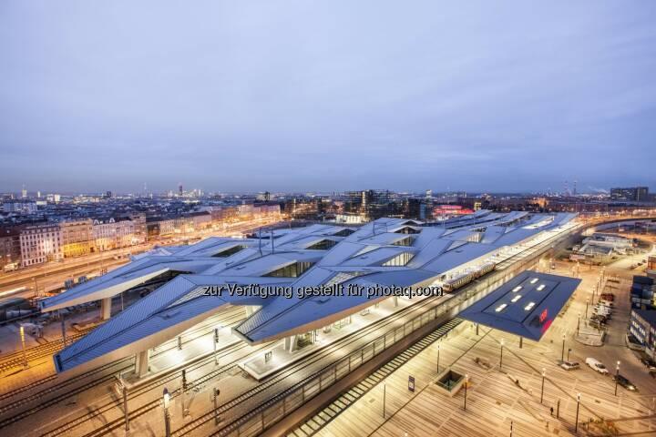 Unger Steel Group: Ausgezeichnet: Unger erhält Europäischen Stahlbaupreis für Rautendach am neuen Wiener Hauptbahnhof (C) Unger Steel Group