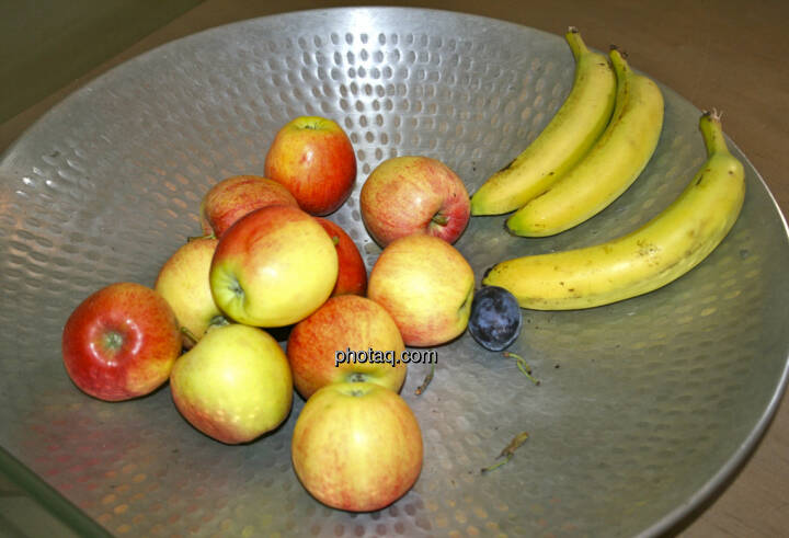 Obst, Apfel, Banane