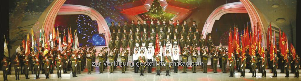The Alexandrov Red Army Choir : Live in Wien : Der legendäre Chor der russischen Armee gibt am 26./27. September anlässlich des 70. Jahrestages zum Endes des Zweiten Weltkrieges in Europa sein Können zum Besten : Fotocredit: The Alexandrov Red Army Choir/zVg, © Aussender (19.09.2015)
