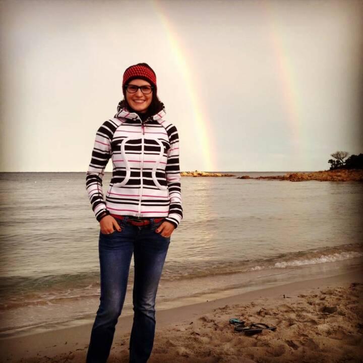 Regenbogen Strand Herbst