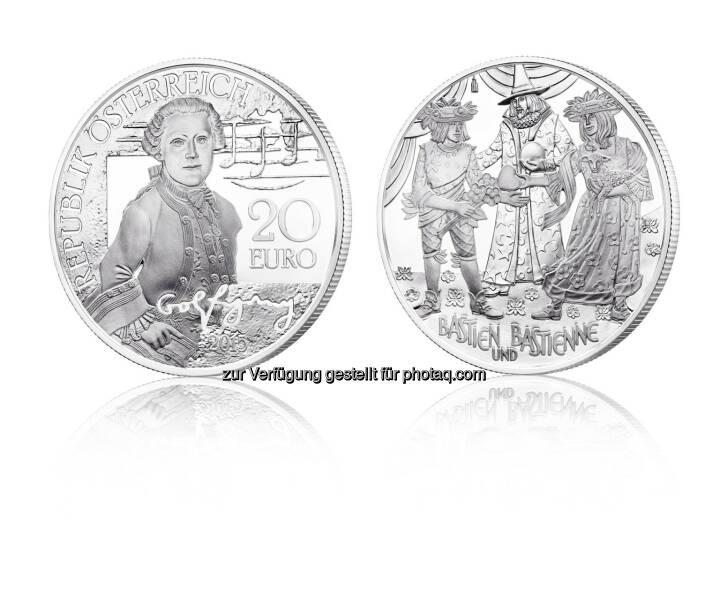 Ansicht Der Neuen 20 Euro Silbermünze Mozart Das Wunderkind