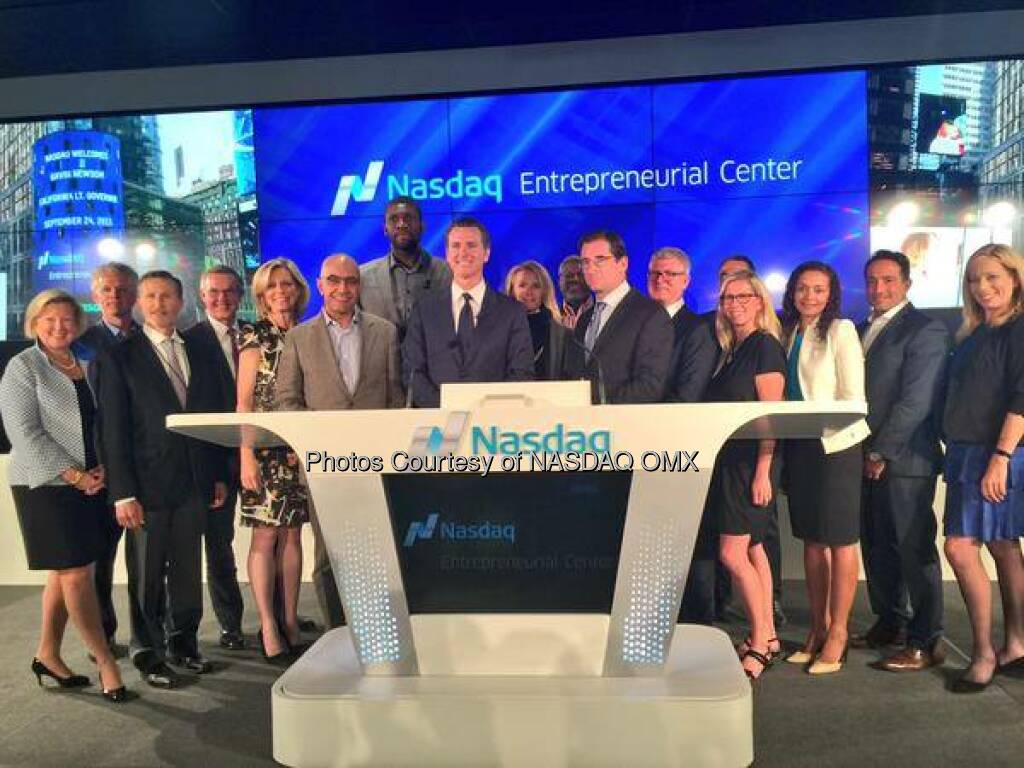 A big thank you to KPMG for making the Center a reality! KPMG's Private Markets Group is a founding sponsor of the Nasdaq Entrepreneurial Center, a central hub for entrepreneurs from all industries, which launched yesterday in San Francisco. #theCenterSF Source: http://facebook.com/NASDAQ (27.09.2015)