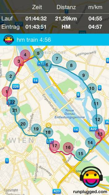 Trainingshalbmarathon in 1:43:51 (27.09.2015)