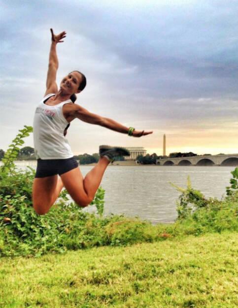 Monika Kalbacher: Mit einem wunderschönen Morgenlauf in Washington beende meine bis jetzt umfangreichste Trainingswoche für den Kleine Zeitung Graz Marathon. Nur noch 2 Wochen! , © Diverse  (27.09.2015)