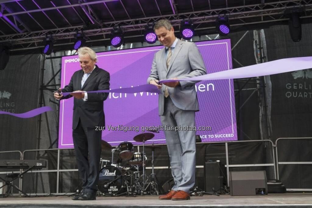 Jürgen Roters, Oliver Schumy : Offizielle Eröffnung, © (c) Immofinanz (29.09.2015)