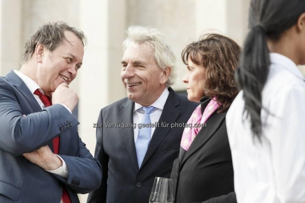 Wilhelm Belke (Stadt Köln) mit Jürgen und Angela Roters, © (c) Immofinanz (29.09.2015)