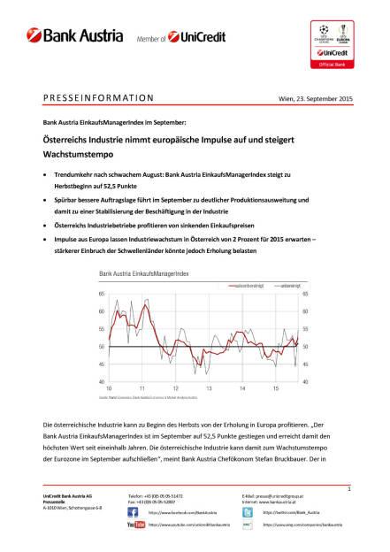 Bank Austria EinkaufsManagerIndex im September, Seite 1/3, komplettes Dokument unter http://boerse-social.com/static/uploads/file_391_bank_austria_einkaufsmanagerindex_im_september.pdf (29.09.2015)