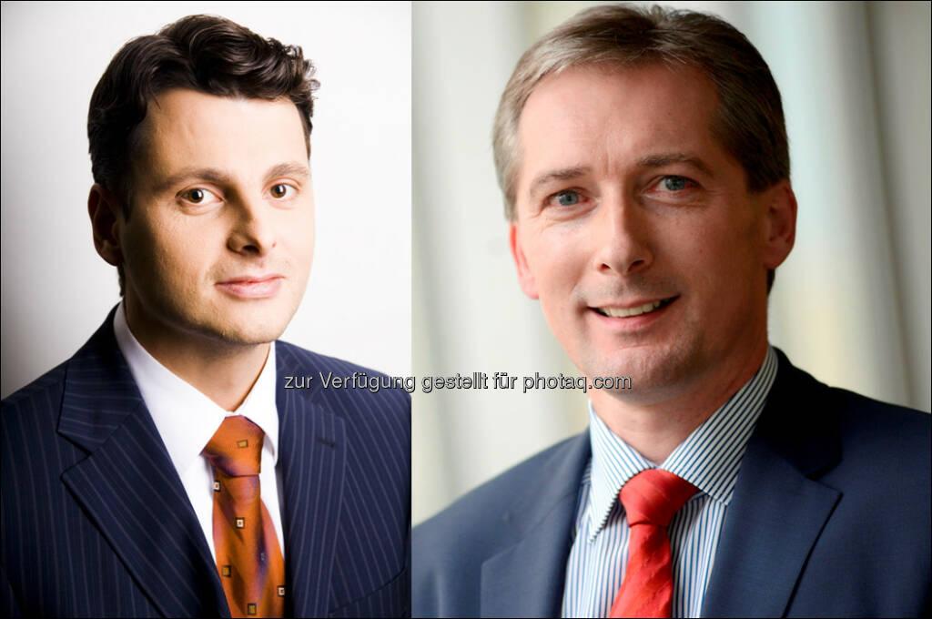 Gerd Medlin, Franz Schachner : Bestellung zu Partner/Geschäftsführer bei LBG Österreich : © LBG Österreich, © Aussendung (29.09.2015)