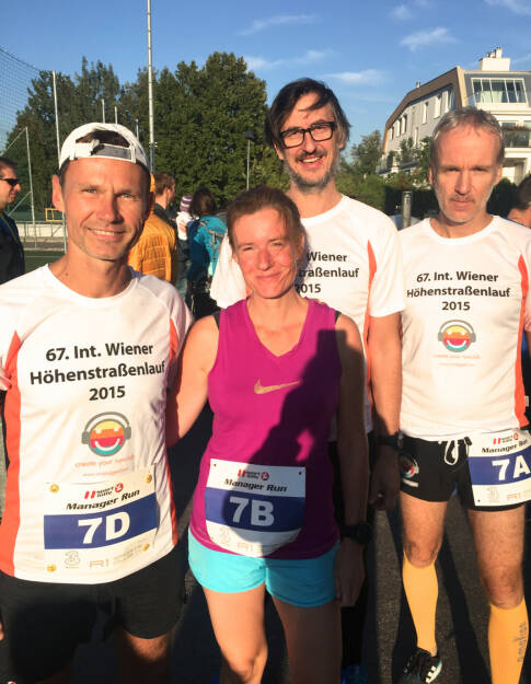 Team Runplugged: Andreas Schweighofer, Martina Draper, Josef Chladek, Christian Drastil (29.09.2015)