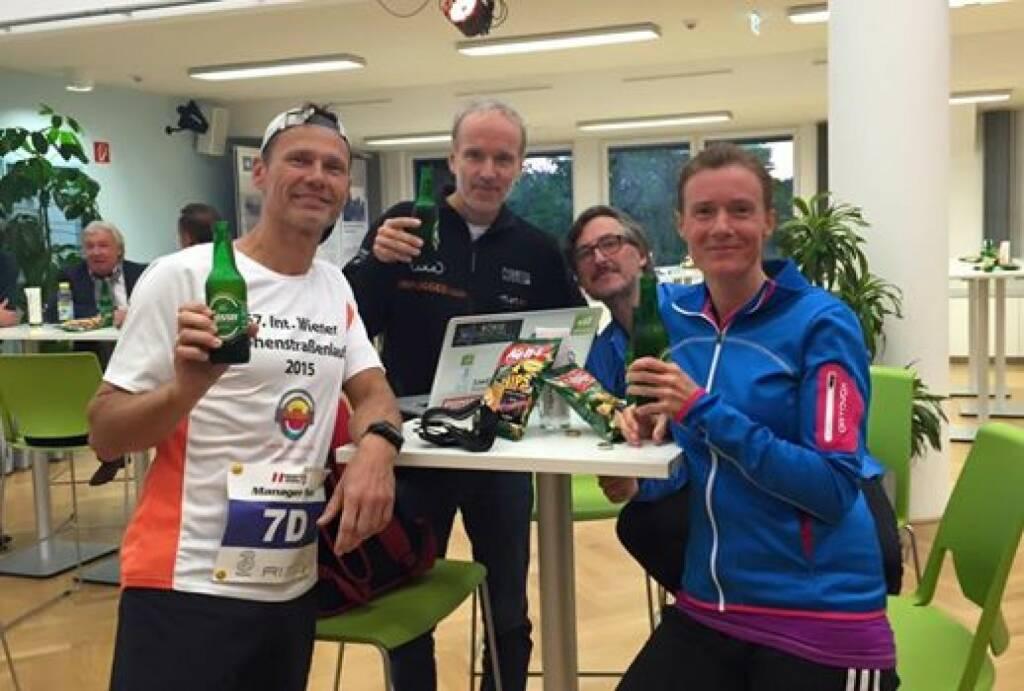 Team Runplugged: Andreas Schweighofer, Christian Drastil, Josef Chladek, Martina Draper (29.09.2015)