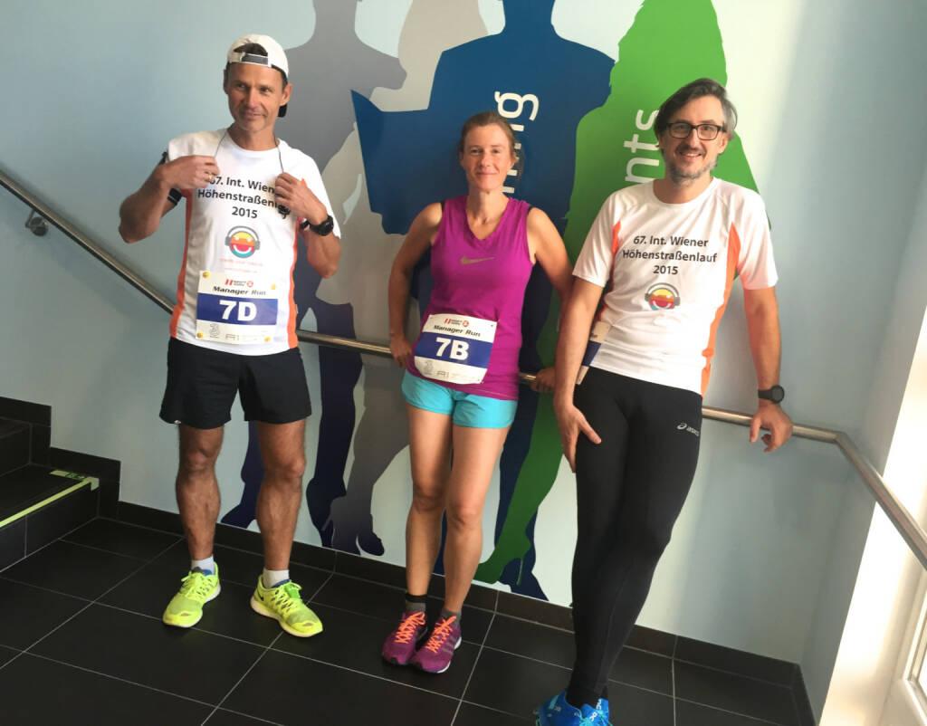 Team Runplugged: Andreas Schweighofer, Martina Draper, Josef Chladek (29.09.2015)