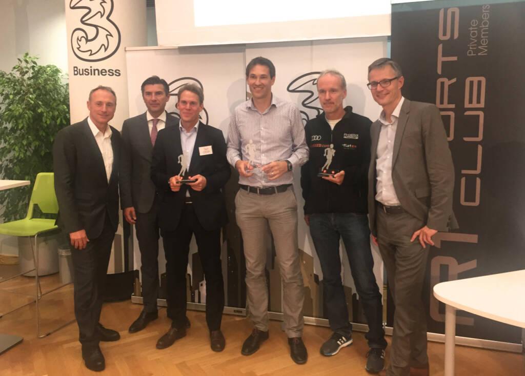 Siegerehrung mit Toni Schutti, Robert Zadrazil, Philipp Spring, Christoph Stadler, Christian Drastil, Jan Trionow (29.09.2015)