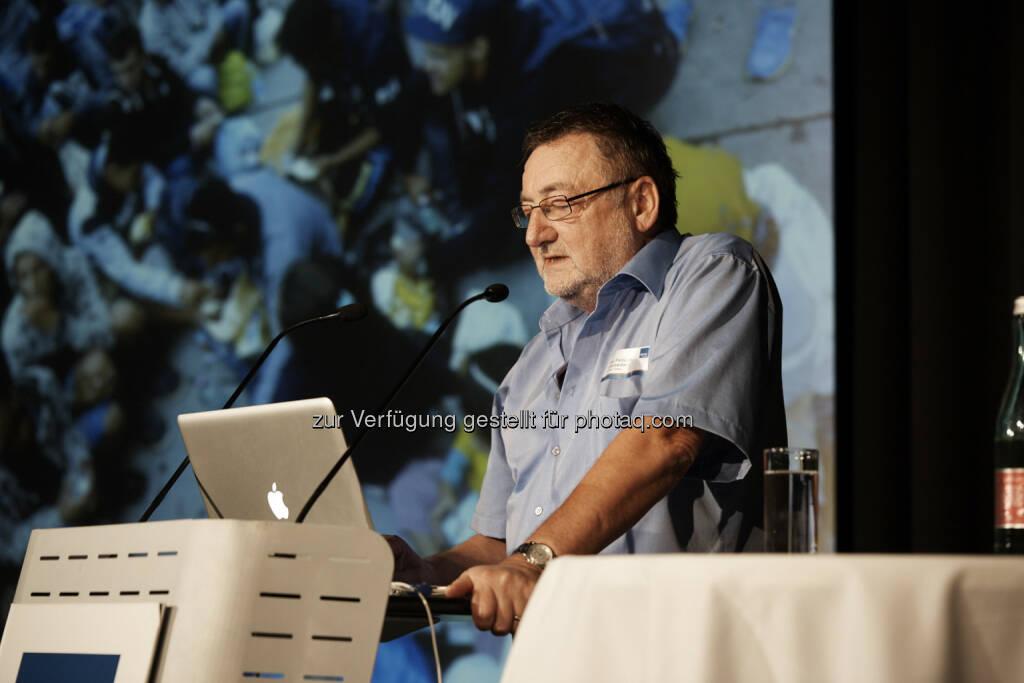 Peter Pantuček-Eisenbacher : Ilse-Arlt-Symposium 2015 - Fachhochschule St. Pölten : Inklusion als Ziel - Konsequenzen für die Organisation Sozialer Arbeit für Flüchtlinge und Behinderte : Fotocredit: FH St. Pölten/Ingerle, © Aussender (29.09.2015)