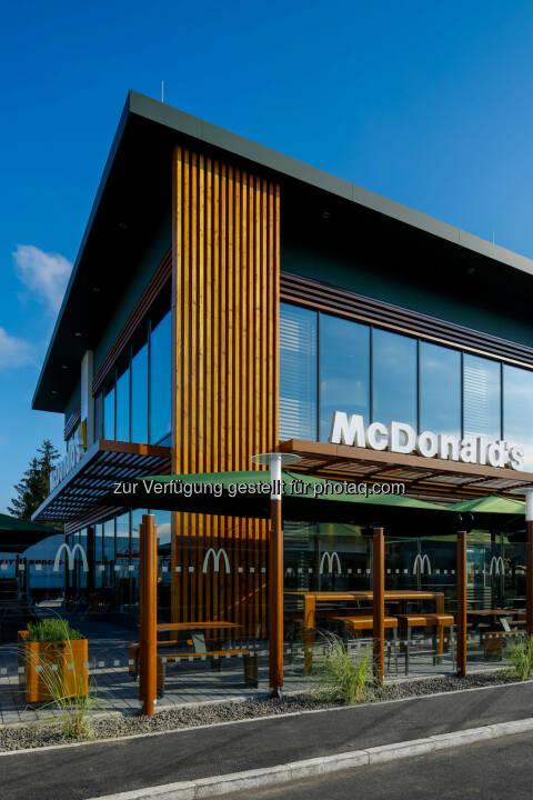 McDonald's St. Pölten : McDonald's Österreich eröffnet mit 1. Oktober sein modernstes und schönstes Restaurant in St. Pölten : Fotocredit: McDonald's Österreich