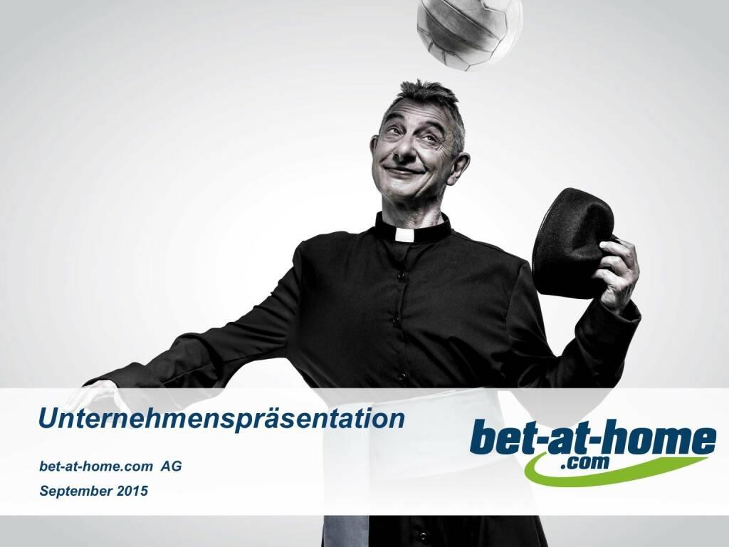bet-at-home.com Unternehmenspräsentation (01.10.2015)